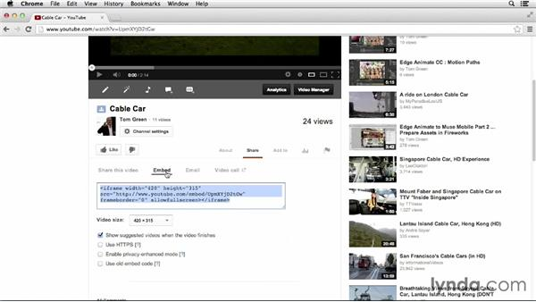 Embedding video via YouTube: Up and Running with HTML5 Video