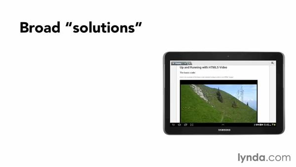 Supporting mobile playback: Up and Running with HTML5 Video