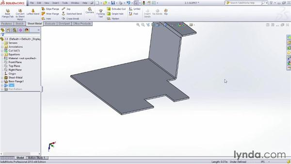 Creating tabs: Sheet Metal Design with SOLIDWORKS