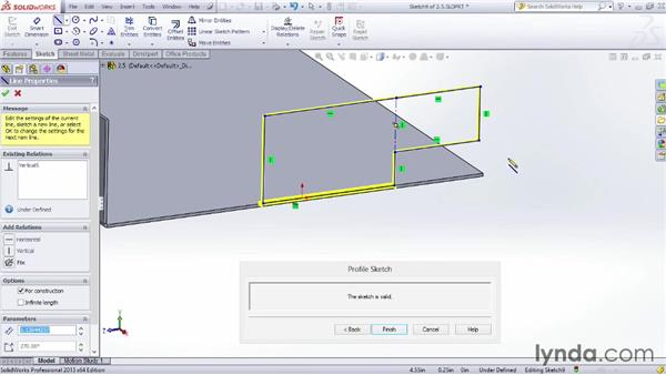 Using the Edit Flange Profile tool: Sheet Metal Design with SOLIDWORKS