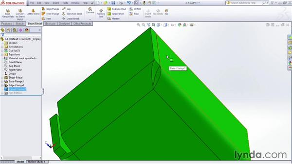 Making closed corners: Sheet Metal Design with SOLIDWORKS