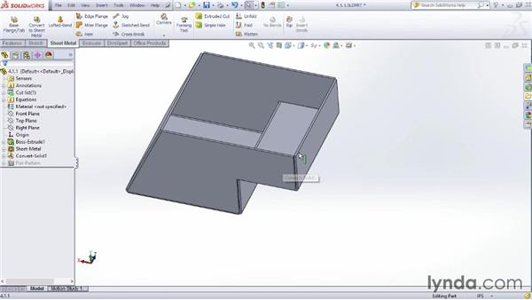 Using the Convert to Sheet Metal command: Sheet Metal Design with SOLIDWORKS