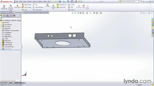 Importing geometry: Sheet Metal Design with SOLIDWORKS