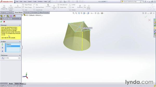Creating a lofted bend: Sheet Metal Design with SOLIDWORKS