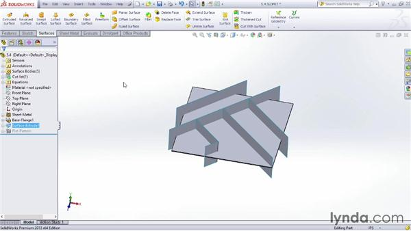 Using the split feature: Sheet Metal Design with SOLIDWORKS