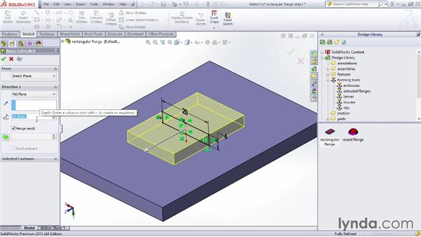 Modifying a forming tool: Sheet Metal Design with SOLIDWORKS