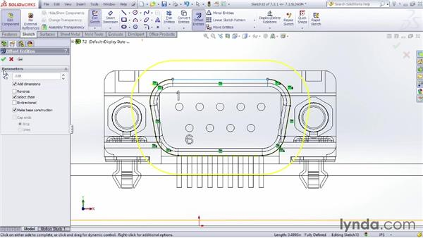 Adding cuts in context: Sheet Metal Design with SOLIDWORKS