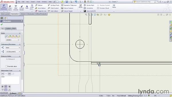 Using ordinate dimensions: Sheet Metal Design with SOLIDWORKS