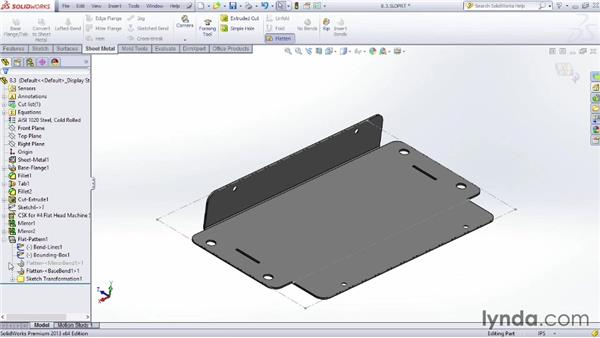 Creating flat patterns: Sheet Metal Design with SOLIDWORKS