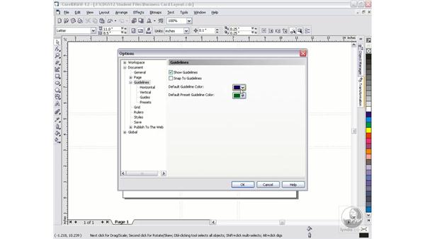guidelines: CorelDRAW 12 Beyond the Basics