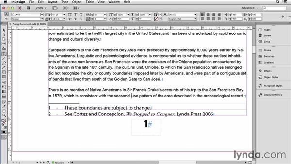 Working with footnotes: Using Word and InDesign Together