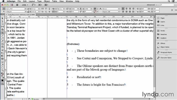 Converting static endnotes into dynamic endnotes: Using Word and InDesign Together