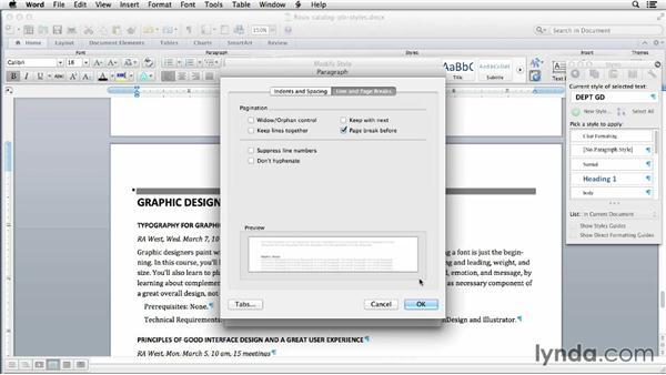 Working with page breaks: Using Word and InDesign Together