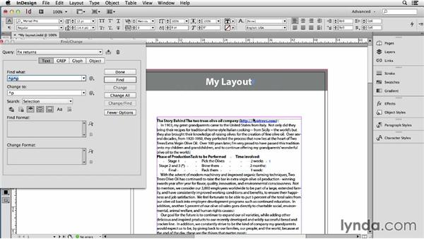 Removing extra returns, tabs, spaces, and other deadwood: Using Word and InDesign Together