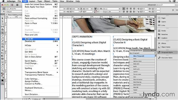 Converting tagged Word docs to styled InDesign text with Find Change: Using Word and InDesign Together