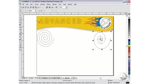 spirals: CorelDRAW 12 Beyond the Basics