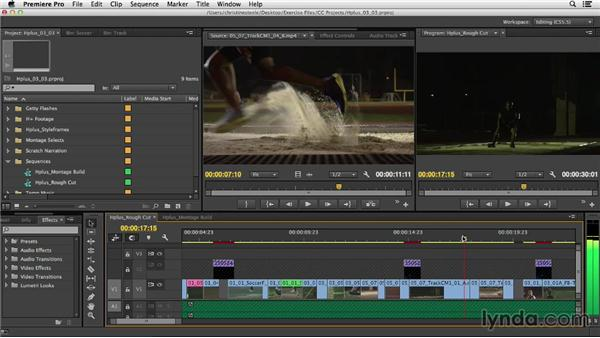 Exploring montage editing options: Commercial Editing Techniques with Premiere Pro