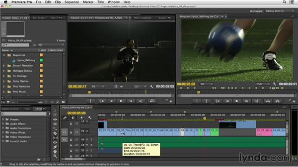 Refining the cut: Commercial Editing Techniques with Premiere Pro
