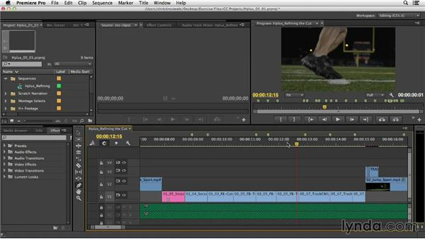Speed and timing effects: Commercial Editing Techniques with Premiere Pro