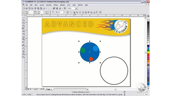 grouping and combining: CorelDRAW 12 Beyond the Basics