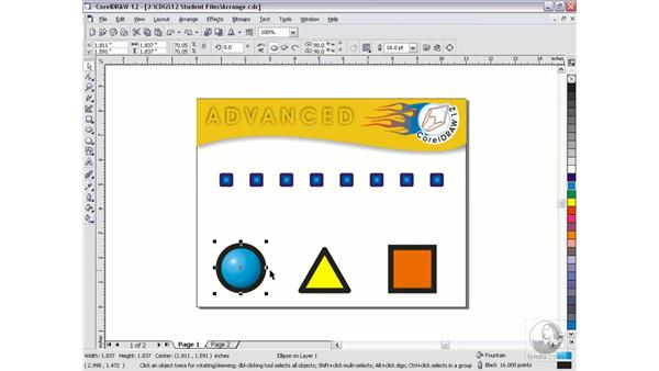 arrange locking: CorelDRAW 12 Beyond the Basics