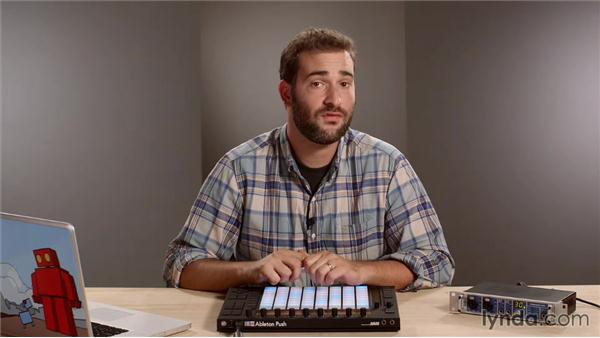 Working without your computer screen: Making Music with Ableton Push