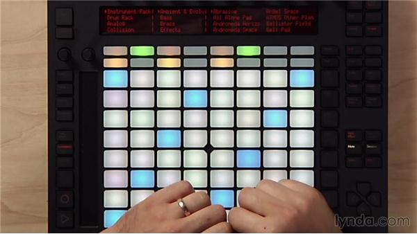 Browsing and loading sounds: Making Music with Ableton Push