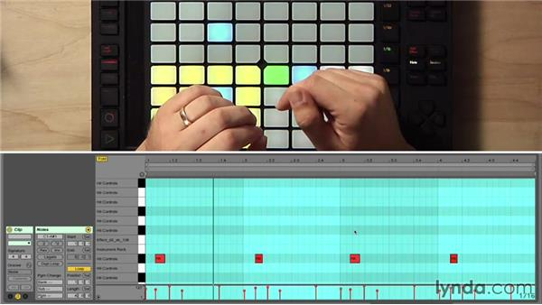 Recording a fixed-length clip and using Repeat mode: Making Music with Ableton Push