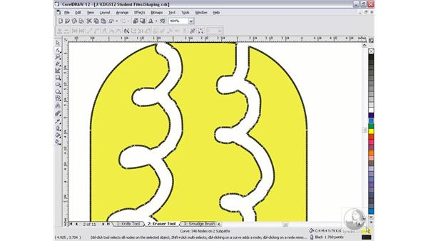 eraser tool: CorelDRAW 12 Beyond the Basics