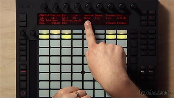 Adjusting loops using Clip mode: Making Music with Ableton Push