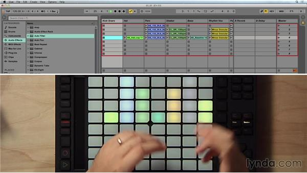 Using the Session mode: Making Music with Ableton Push