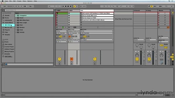Adding custom LED feedback: Making Music with Ableton Push