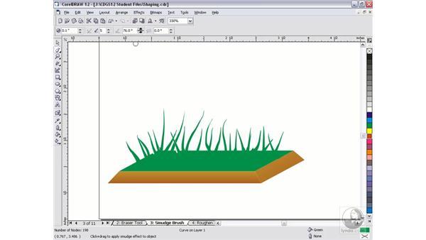 smudge brush: CorelDRAW 12 Beyond the Basics
