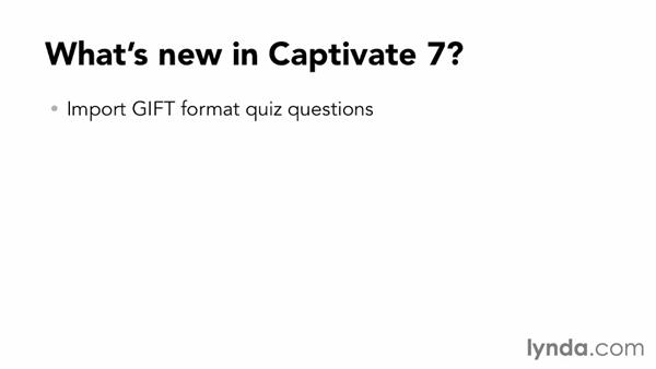 What's new in Captivate 7?: Up and Running with Captivate 7