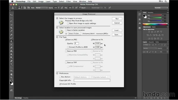 Batch processing photos with the Adobe Image Processor: The Practicing Photographer
