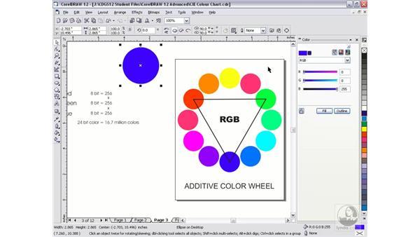 color theory: CorelDRAW 12 Beyond the Basics