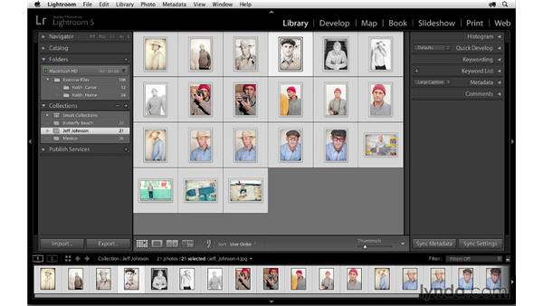 Renaming and reordering images: Lightroom 5 Essentials: 06 Creating Slideshows and Web Galleries