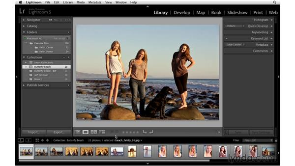 Selecting images with flags: Lightroom 5 Essentials: 06 Creating Slideshows and Web Galleries