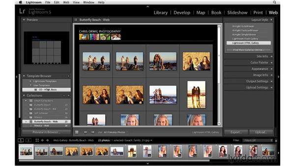Saving custom templates: Lightroom 5 Essentials: 06 Creating Slideshows and Web Galleries