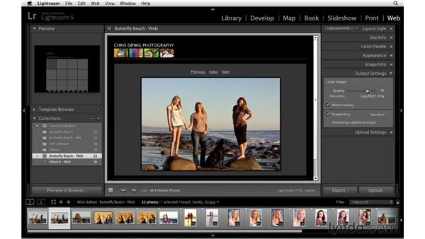 Working with JPEG compression and using the Quality slider: Lightroom 5 Essentials: 06 Creating Slideshows and Web Galleries