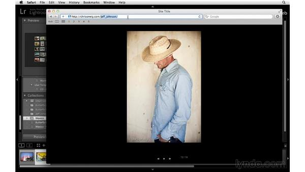 Uploading Flash galleries: Lightroom 5 Essentials: 06 Creating Slideshows and Web Galleries