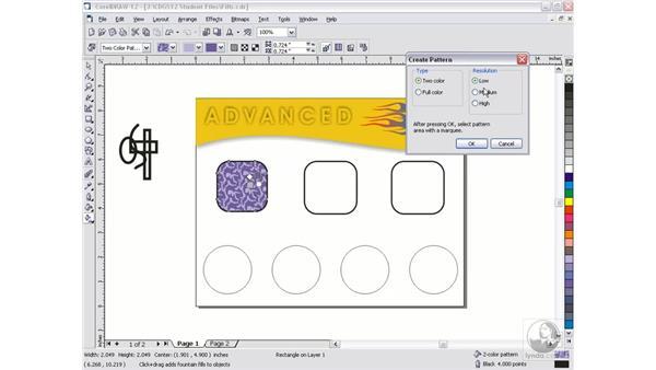 pattern fills: CorelDRAW 12 Beyond the Basics