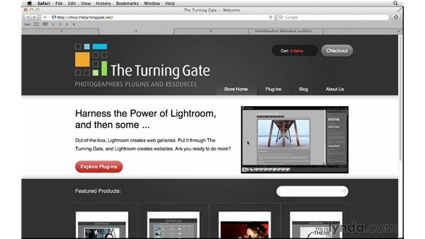 Exploring online web gallery resources: Lightroom 5 Essentials: 06 Creating Slideshows and Web Galleries