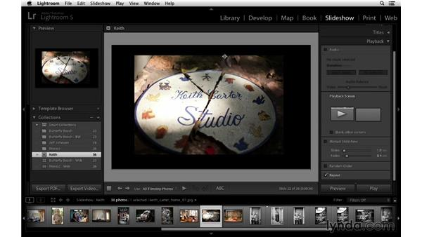 Slideshow and collections: Lightroom 5 Essentials: 06 Creating Slideshows and Web Galleries