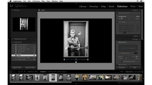 Fine-tuning the slideshow and creating custom templates: Lightroom 5 Essentials: 06 Creating Slideshows and Web Galleries
