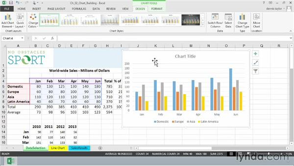 Creating charts with the Recommended Charts feature: Excel 2013: Charts in Depth