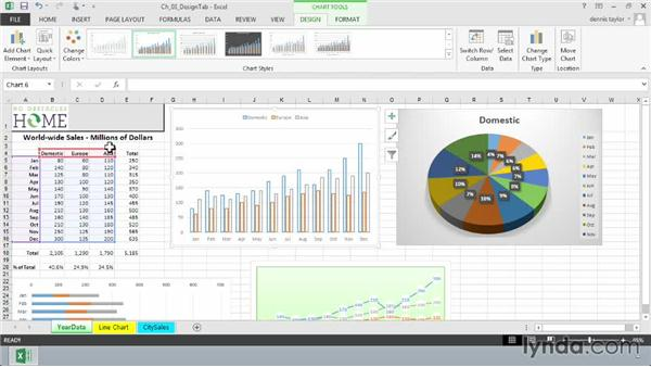 Adding a chart element: Excel 2013: Charts in Depth