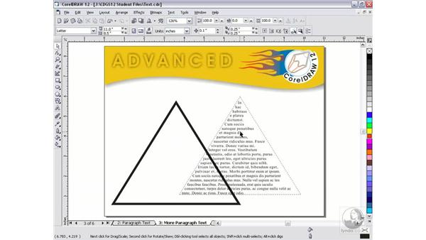paragraph text: CorelDRAW 12 Beyond the Basics