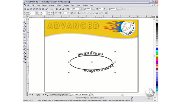 text on a path: CorelDRAW 12 Beyond the Basics