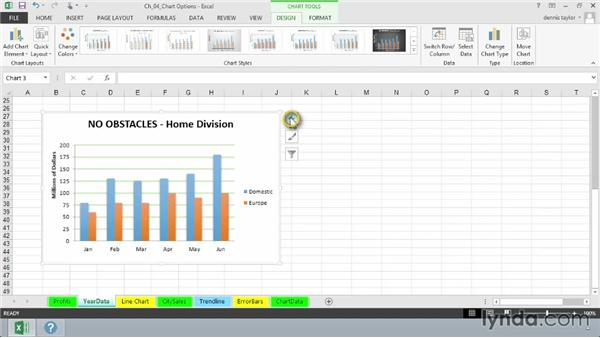 Working with gridlines: Excel 2013: Charts in Depth